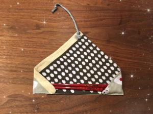 手作り箸袋(開いたところ)